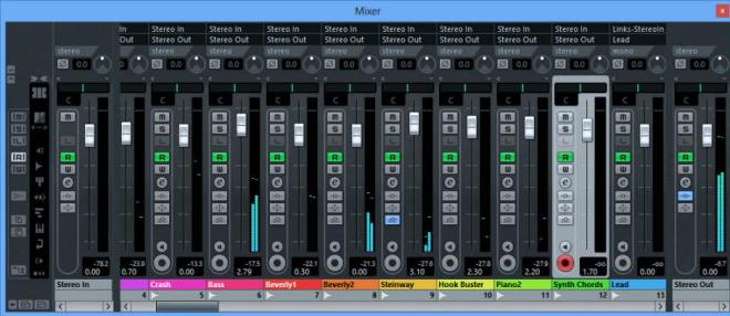 Mixer Stereo Out Cubase