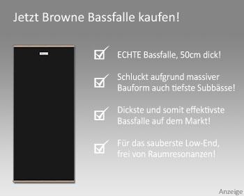 Browne Bassfalle Raumakustik