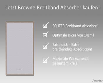 Browne Breitband Absorber Raumakustik