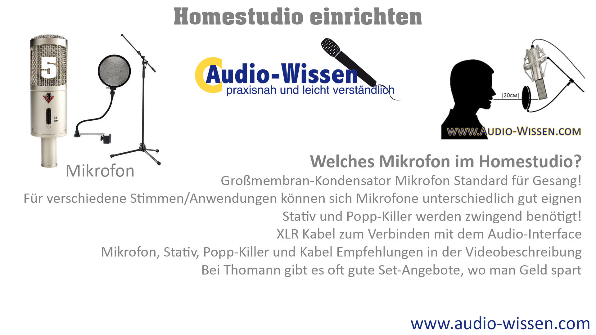 Welches Mikrofon im Homestudio