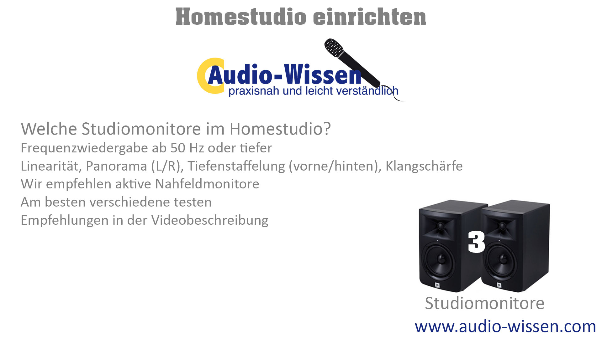 Homestudio Monitore